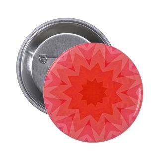 Pink Fractal Button Pin Mandala Star