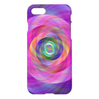 Pink fractal iPhone 7 case
