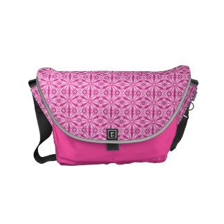 Pink Fractal Pattern Small Messenger Bag