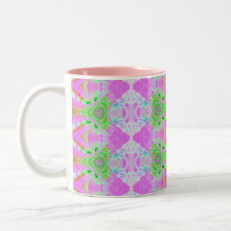 pink fractal pattern Two-Tone coffee mug