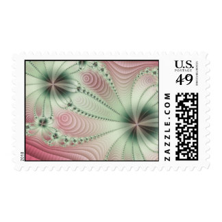 Pink Fractal Postage