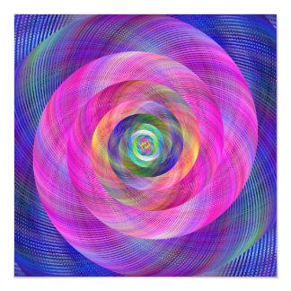 Pink fractal magnetic invitations