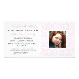 Pink Frame - Photo Graduation Party invites