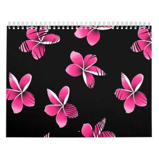 Pink frangipani calendar