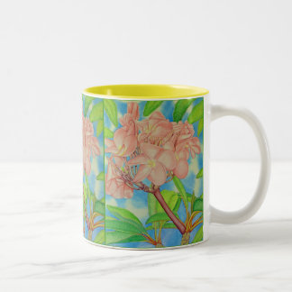 Pink Frangipani Two-Tone Coffee Mug