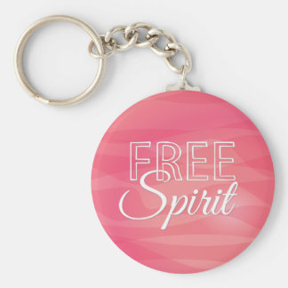 Pink Free Spirit Inspirational Quote Key Chains