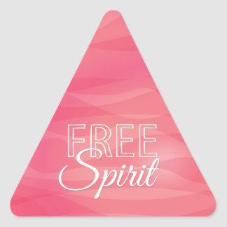 Pink Free Spirit Inspirational Quote Triangle Sticker
