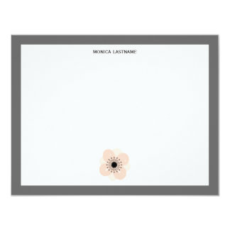 Pink French Anemone Flat Notecards