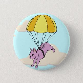 Pink French Bulldog Umbrella Fun Button