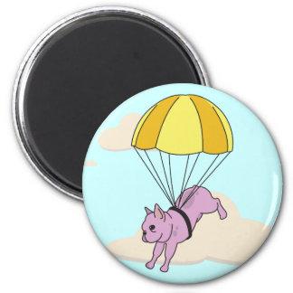Pink French Bulldog Umbrella Fun Magnet