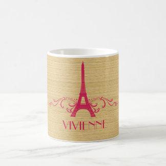 Pink French Flourish Mug