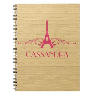 Pink French Flourish Notebook