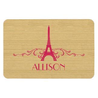Pink French Flourish Premium Magnet