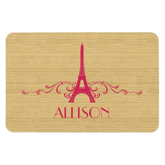 Pink French Flourish Premium Magnet
