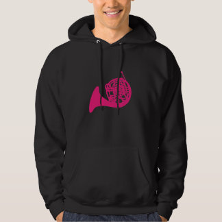 Pink French Horn Hoodie