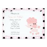 PINK FRENCH POODLE Ooh la la 5x7 Birthday Custom Announcement