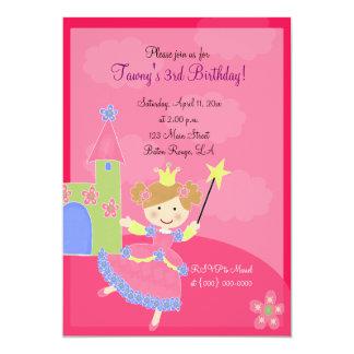 "PINK FRENCH POODLE Ooh la la 5x7 Birthday 5"" X 7"" Invitation Card"