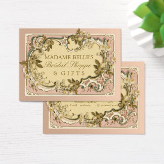 Pink French Vintage Frame | Roses Bridal Boutique Business Card