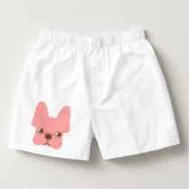 Pink Frenchie Boxers