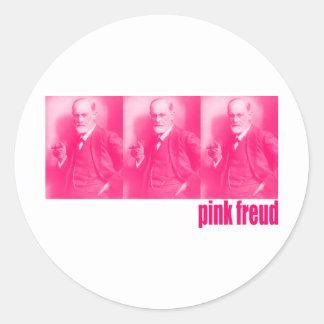 Pink Freud Classic Round Sticker