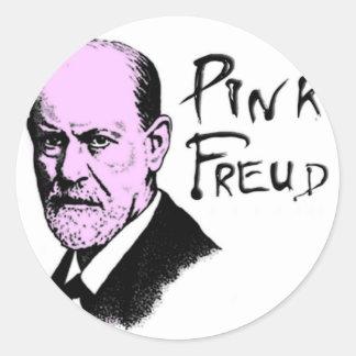 pink_freud classic round sticker