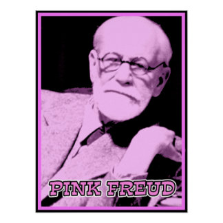Pink Freud Funny Poster Sign Print