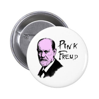 pink_freud pinback button