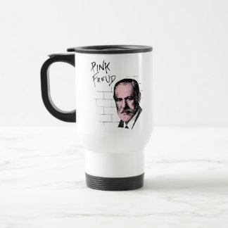 Pink Freud Sigmund Freud 15 Oz Stainless Steel Travel Mug
