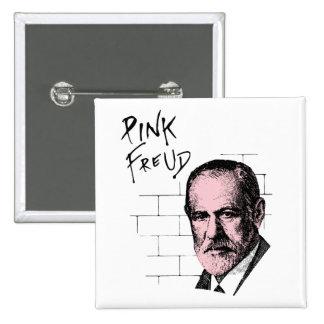 Pink Freud Sigmund Freud 2 Inch Square Button