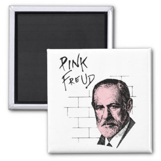Pink Freud Sigmund Freud 2 Inch Square Magnet