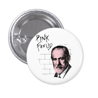 Pink Freud Sigmund Freud Pinback Button