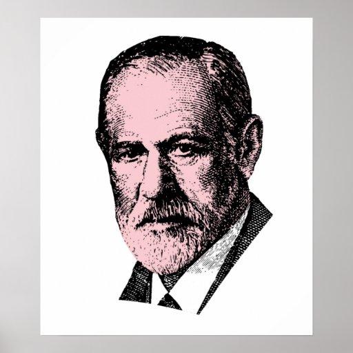 Pink Freud Sigmund Freud Print
