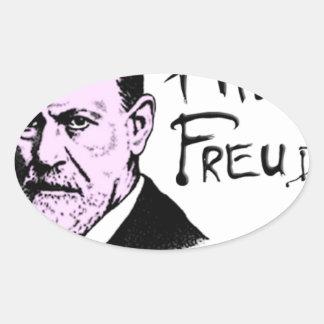 Pink Freud T-Shirt Great Quality Pink Floyd Oval Sticker