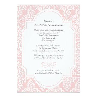 Pink Frill Religious Invitation
