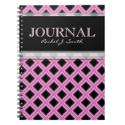 Pink Frills Grills Pattern Journal Notebook