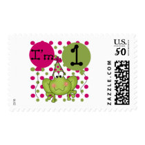 Pink Frog 1st Birthday Tshirts and Gifts Postage