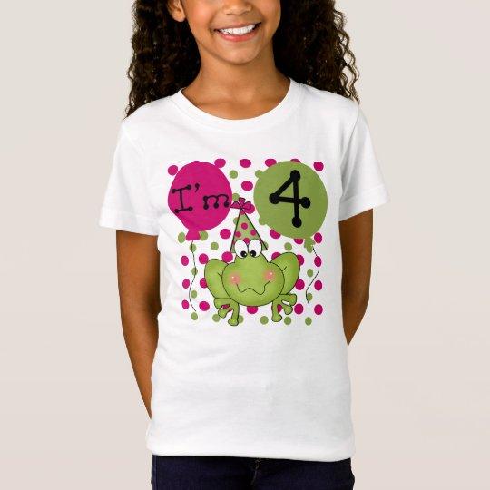 Pink Frog 4th Birthday T-Shirt