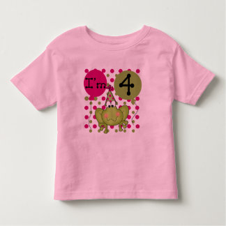Pink Frog 4th Birthday Tshirts and Gifts