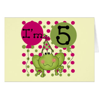 Pink Frog 5th Birthday Tshirts and Gifts Card