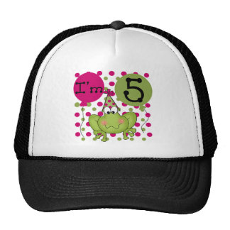 Pink Frog 5th Birthday Tshirts and Gifts Trucker Hat