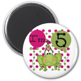 Pink Frog 5th Birthday Tshirts and Gifts Magnet