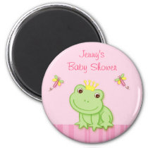Pink Frog Froggy Party Favor Magnets