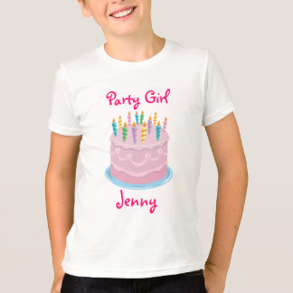 Pink Frosted Birthday Cake_Party Girl personalized T-Shirt