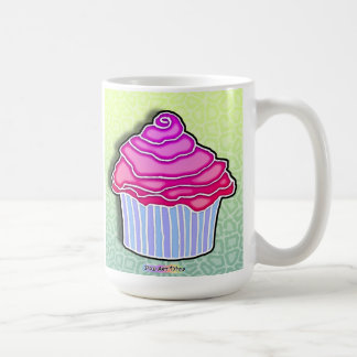 Pink Frosted Blue CUPCAKE MUG, CUP, STEIN