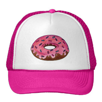 Pink Frosted Donut Doughnut Sprinkles Donuts Hat