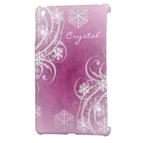 Pink Frosted Flourishes Winter Mini Ipad Case iPad Mini Case