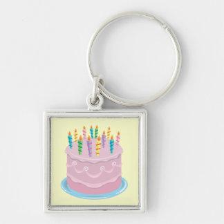 Pink Frosting Bakery-style Birthday Cake Keychain