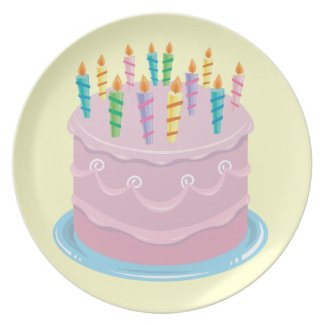 Pink Frosting Bakery-style Birthday Cake fuji_plate
