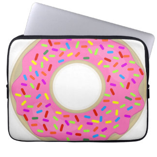 Pink Frosting Cute Donut Computer Sleeve