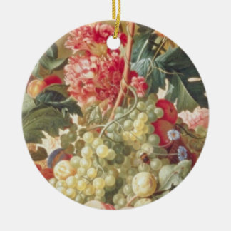 Pink Fruit and Flowers Flemish flowers Ornament